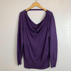TORRID purple long sleeve sweater